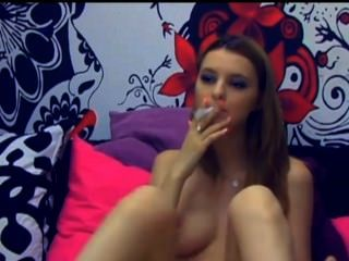 Hot Teen Smokes And Play