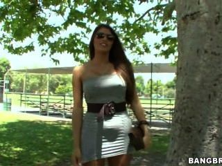 Hot Latina Strips And Shows Her Ass For The Camera
