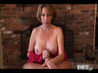 Hot Milf Hand Job And Blowjob