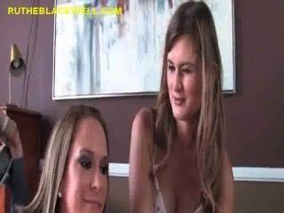 Hot Blondes Share Big Black Cock