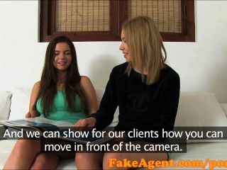 Fakeagent Party Girls Get Interviewed In Casting