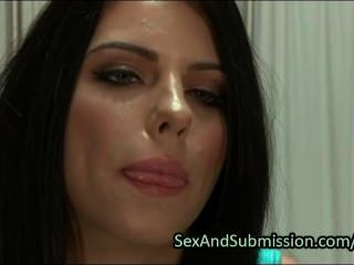 Hot Brunette Deep Throat Fucked In Bdsm