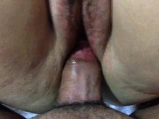 Good Morning Quickie! Hairy Pussy & Pink Vibrator