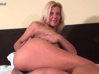 Hot Blonde Milf Loves To Play Alone
