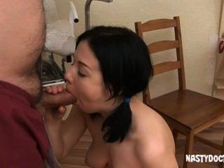 Horny Doc Teaching Teen How To Suck