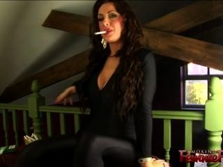 Sexy Smoking Cougar In High Hee ...