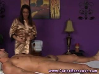 Raven Masseuse Enjoys Blowing Her Clients Hard Dick