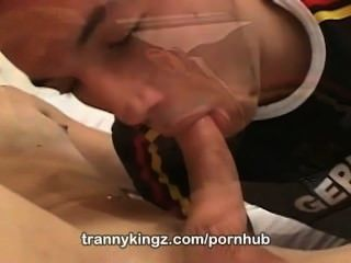 Blonde Tranny Juliana Mel Gets A Nasty Facial Only At Trannykingz