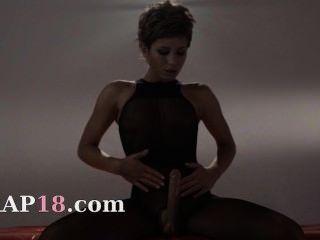 Hot Schoolmate In Pantyhose Masturbating