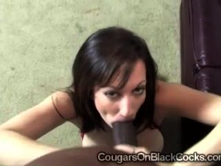 Brunette Milf Stephanie Wylde Devours Huge Black Dong