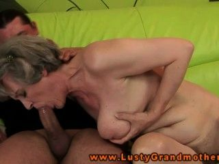 Granny Amateur Gilf Drooling On Cock