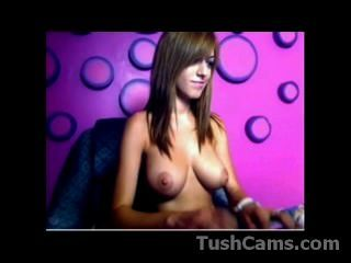 Beautiful Busty Teen Teasing On Cam Show