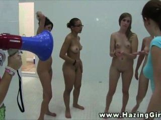 Amateur Lezzie Teens Get Humiliated Under The Shower