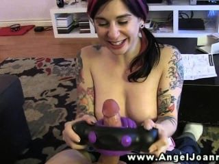 Punk Angel Joanna Uses Kinky Toys On His Cock