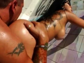 Attractive Bitch Banged Outdoors