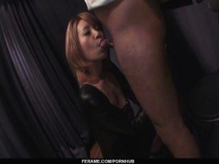 Busty Sumire Matsu On Her Knees To Suck Cock