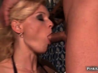 Gorgeous Blonde Babe Goes Crazy Sucking Part2