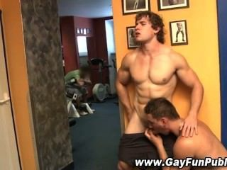 Public Amateur Blowjob For Gay Hunk