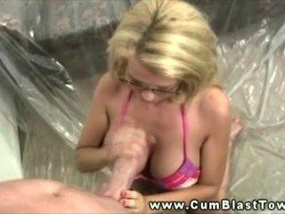 Cum Loving Milf Showered In A Fresh Load
