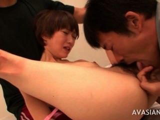 Asian Girl Being Humiliated And Fucked By Two Classmates