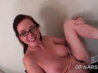 Pov Busty Ex-girlfriend In Glasses Giving A Hot Tugjob