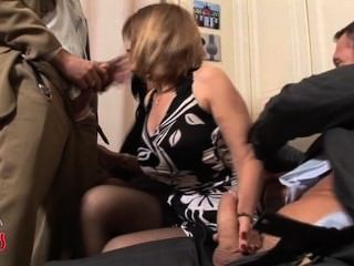 French Milf Swingers Foursome