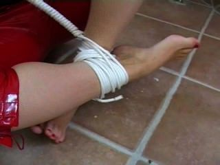 Sophia Smith Tied & Gagged In The Basement