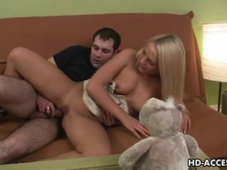 Hot Teen Blonde Britney Gets Her Pussy Ploughed