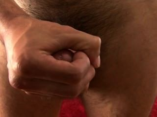 Hot Hairy Str8 Guy Lets Me Jack His Big Curved Cock.