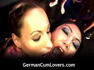 Two Smoking Hot Girls Blowing And Fucking Hard Dicks On The Sofa