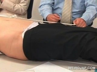 Cute Asian Office Babe Gets Tied To The Table And Fucked