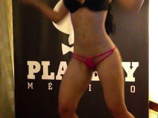 Diosa Canales Bailando Samba Desnuda Playboy Mexico Hd