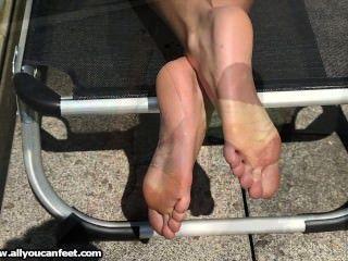 Gigi - Barefoot Sunbath