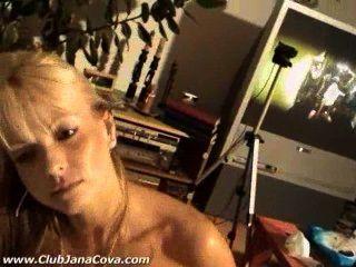 Amateur Blonde Jana Blowjob, Handjob. Cum On Tits