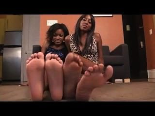Ebony Foot Tease