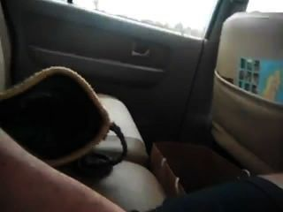 Cum In Taxi Cab Almost Caught