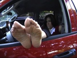 Lexi Feet Out Of Window