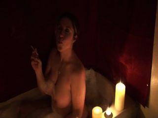 Milf Smoking Bath