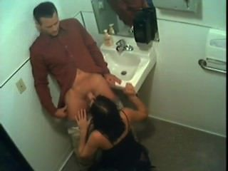Stacy Gives Head In The Bathroom