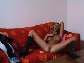 Foxy Blonde Mature Lady Masturbates