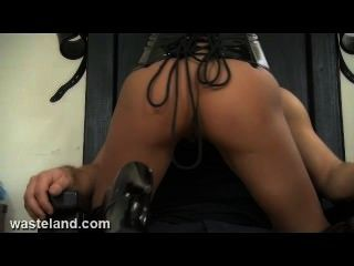 Wasteland Sexy Brunette Submissive Tied In Chair And Sexually Tormented