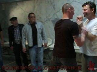 Newbie Kieron Ryan Gets Bound And Humiliated In A Public Bathroom