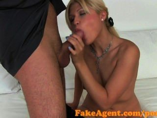 Fakeagent Saucy Blonde Amateur Takes Facial In Casting