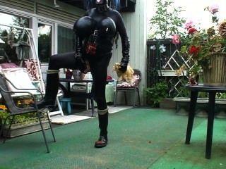 Kinkycore outdoor nettle punishment 5