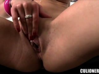 Redhead With Big Tits Sits On And Sucks Dick