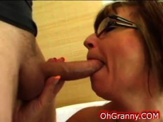 Horny And Naughty Brunette Granny