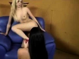 Tiny Tit Anne And Fellow Teens Lesbo Strap On Orgy