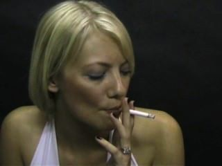 Amazing Smoking Fetish Blonde!