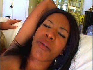 Black Erika Double Vag With 2 White Cocks