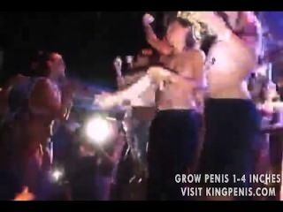 Crazy Party Girls Being Sprayed With Water